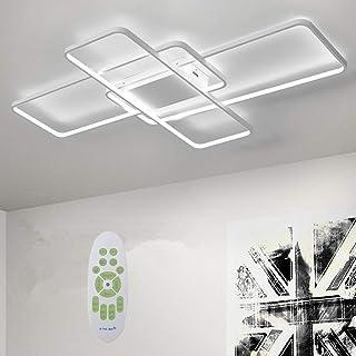 Lámpara de techo LED Deevin,regulable con control remoto,lámpara de techo de tablero LED incorporada,sala de estar,dormitorio, comedor,habitación infantil,función de luz nocturna,Blanco,105 * 60cm