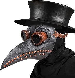 Plague Doctor Mask - Long Nose Bird Beak Steampunk Halloween Costume Props Mask
