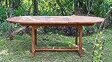 Strandkorbwerk Tisch Capri 160 cm, Teakholz Gartentisch Garten Holz
