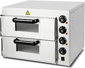 Vertes four à pizza electrique professionnel (3000 watt, régulation de température 0°C à 350°C, contrôle séparé de la temp...