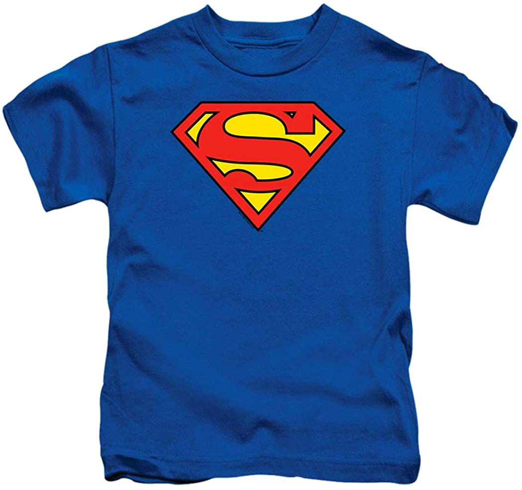 Juvenile Superman Classic Logo T Shirt & Stickers