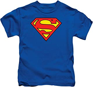 Juvenile Superman Classic Logo T Shirt & Stickers