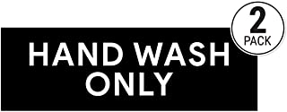 Hand Wash Only Sticker Signs | Workplace Hygiene Reminder Restaurants, Commercial Kitchens, Hospitals, Clinics Medical Facilities (Pack of 2)