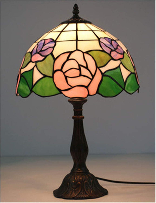 Xiuxiu Europäische Kreative Retro Glasmalerei Tischlampe Schlafzimmer Nachttischlampe Esszimmer Esszimmer Esszimmer Wohnzimmer Bar Dekoration Tischlampe B07JG8H8PR     | Hochwertige Produkte  70c277