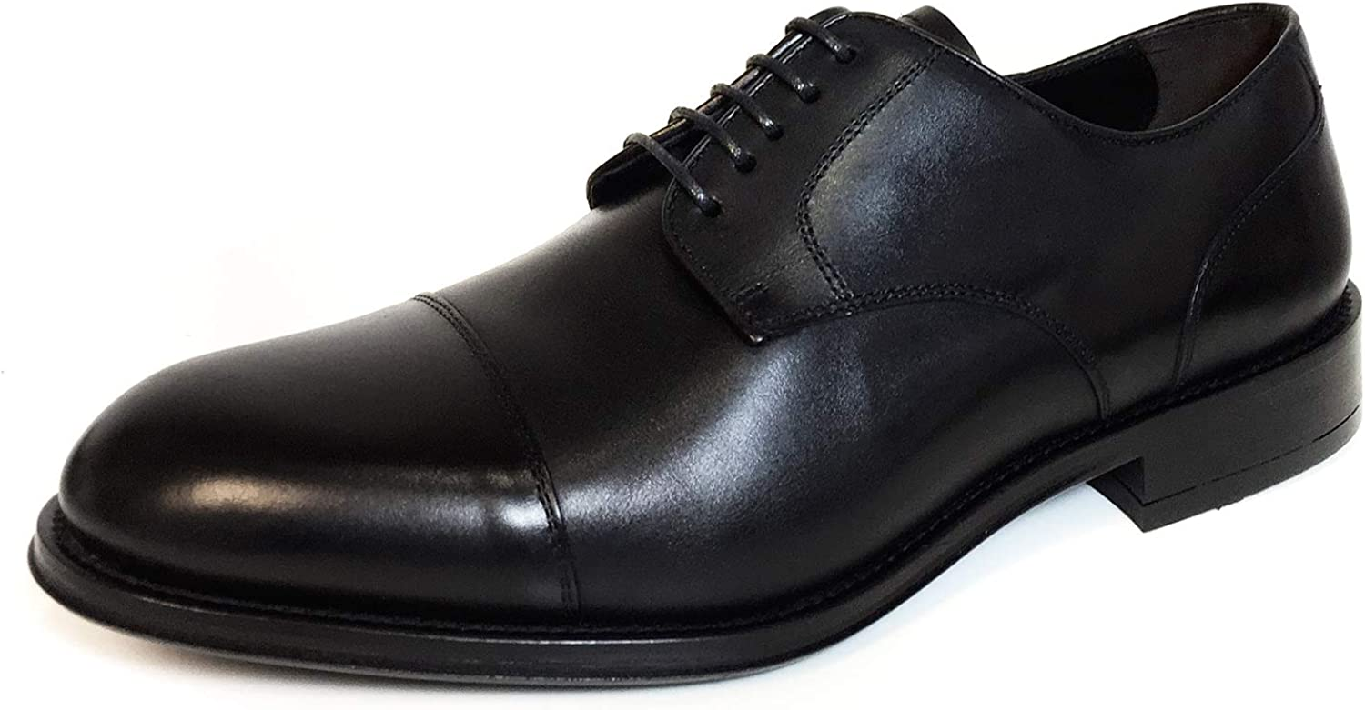 Massimo Dutti Men Black Leather Smart shoes 4200 022