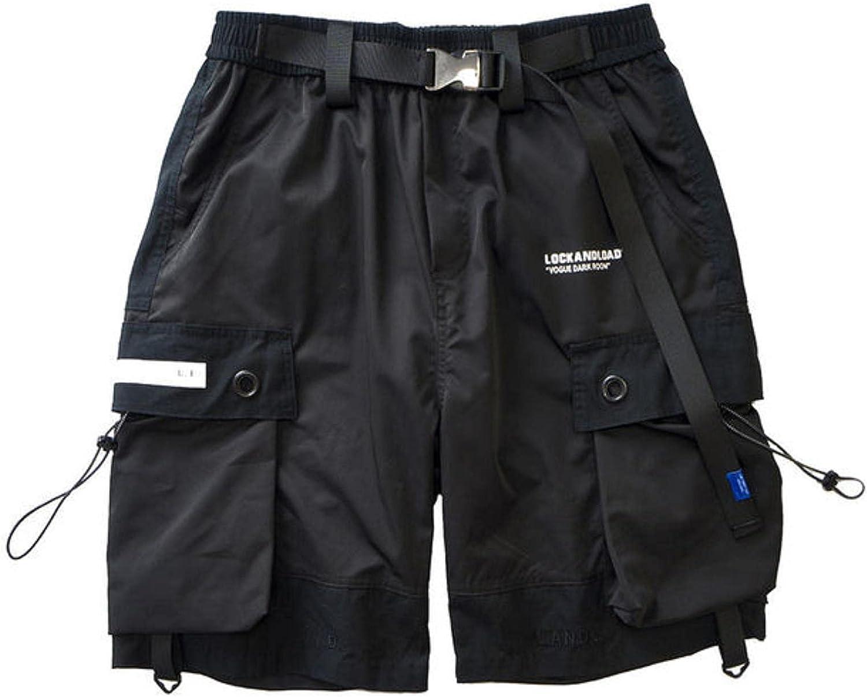 WoJogom Summer Shorts Cargo Pants Men New mail order Cheap sale Pock Black Stylish Joggers