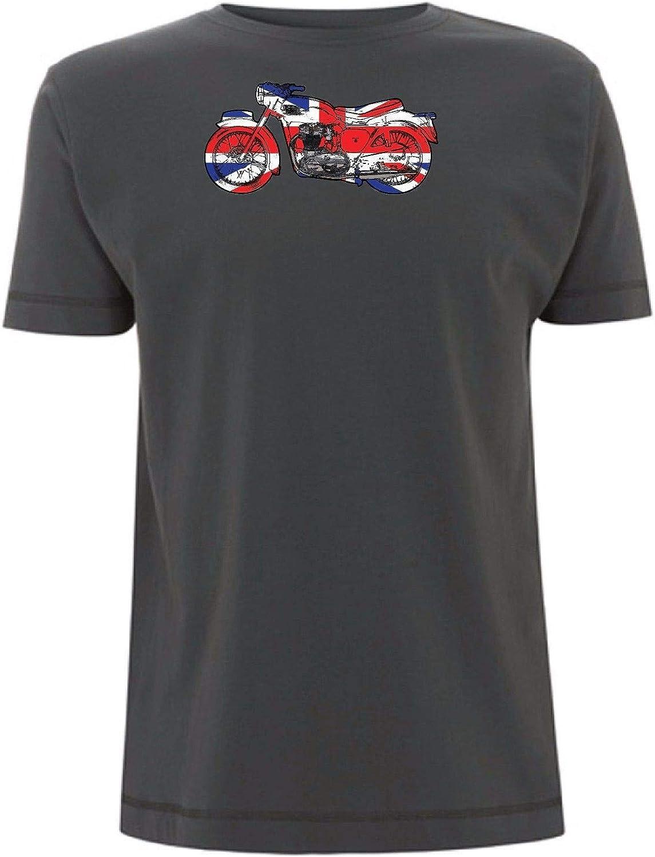 Triumph Bonneville Bobber T Shirt Union Jack British Motorcycle 1940s Style Bike