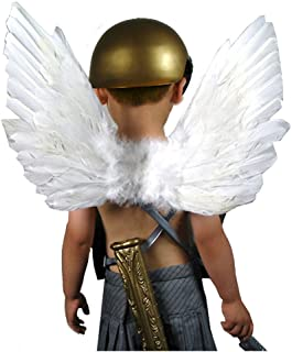 (TM New Feather White Fairy Angel Wings for 5 6 7 8 9 Years Old Kids