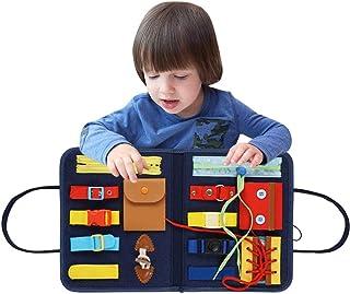 Montessori Bebe Planches D'apprentissage Panneau De Feutre D'apprentissage Pour Apprendre À Zipper, Bouton, Boucle - Planc...