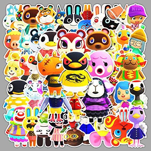 WUWEI Juego de Dibujos Animados Animal Senyou Club Graffiti Sticker Equipaje Notebook Scooter Etiqueta engomada del Coche 50 Uds