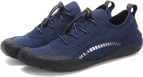 SELCNG Chaussures Nautiques Nautiques Chaussures de Sport Nautiques à séchage Rapide, Pieds nus-bleu-44