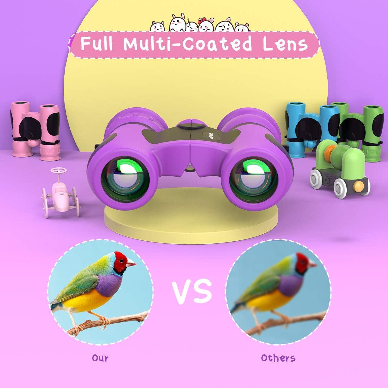 LetsGO toyz Upgraded Compact Shockproof Binocular for Kids Best Birthday Toys Xmas Gifts