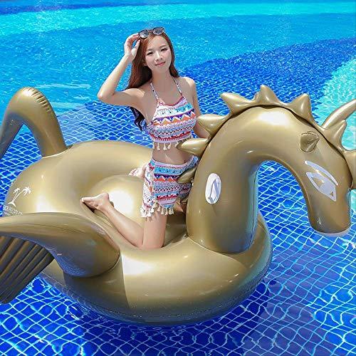 Luckybb Umweltfreundliche PVC Aufblasbare Halterung, Schwimmring, Erwachsene Cartoon Schwimmende Reihe Schwimmende Bett, 190x190x130cm