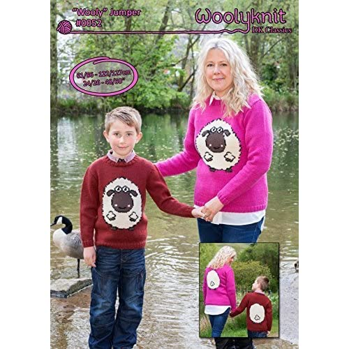 4cb172660894e 0052 - Wooly jumper - Knitting Pattern by Woolyknit