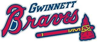 qualityprint Gwinnett Braves Set of 2 MiLB Minor Baseball Sport Home Decor Bumper Vinyl Sticker 14'' X 6''