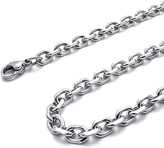 Collar de palabra O - SODIAL(R) cadena de joyeria de hombres y mujeres, collar de acero inoxidable, plata ¨C anchura 3mm ¨C longitud 70cm