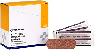 First Aid Only 1 x 3 Heavy Woven Fabric Bandages,  100 Per Box