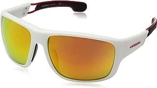 Carrera Men's 4006/s Wrap Sunglasses, Matte White, 63 mm