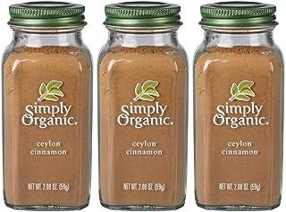 Simply Organic Ground Ceylon Cinnamon | Certified Organic | 2.08 oz. | 3-Pack