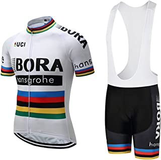Cycling Jerseys Men's Short Sleeve and Bib Shorts Set Bicycle Jersey Summer Quick Drying Breathable Jersey White V24