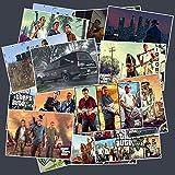 HENJIA Pegatinas de Videojuegos para portátil, Equipaje, Ordenador, Bicicleta, teléfono, monopatín, Almohadilla, calcomanía, Grand Theft Auto Sticker25 Piezas