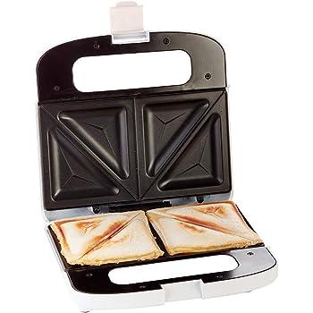 Ariete 1984 Sandwichera, 750 W, marca en sandwich en 2 partes, placas antiadherentes, recogecable, luz encendido, posición vertical para guardar, color blanco