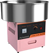 Nurxiovo 21 Inch Cotton Candy Machine Electric Commercial Cotton Candy Maker Large Stainless Steel Candy Floss Maker Machi...