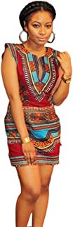Vintage Party Dress,Agrintol Summer Casual New Women Sleeveless Traditional African Print Party Dress