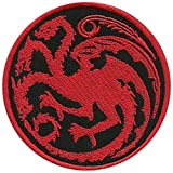 Targaryen Dragon - Game of Thrones EMBROIDERED PATCH Badge Sew On 3' - Shipped From USA