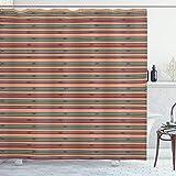 ABAKUHAUS Stammes Duschvorhang, Pfeile Triangel & Rhombs, Waschbar & Leicht zu pflegen mit 12 Haken Hochwertiger Druck Farbfest Langhaltig, 175x240 cm, Mehrfarbig