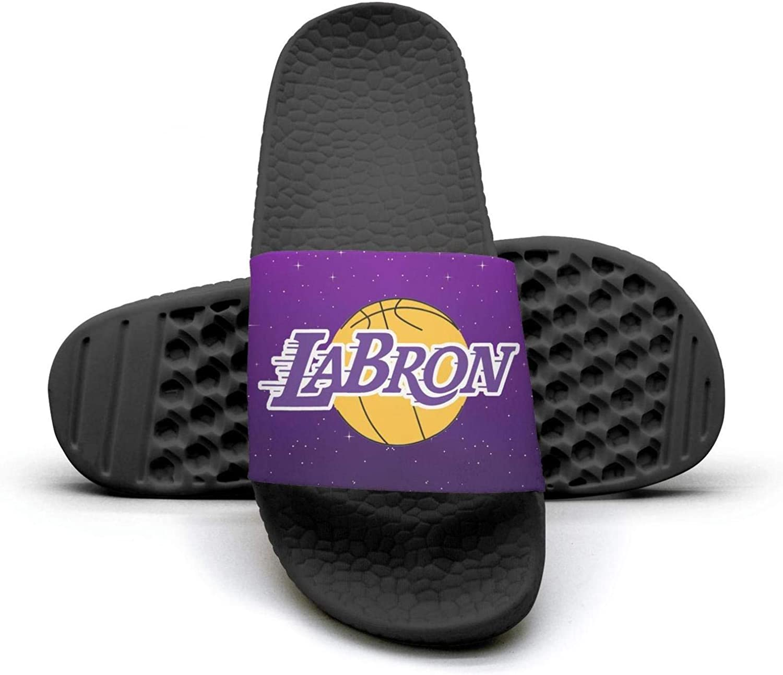 ADIDII Womens Printed Non-Slip Slipper Slide flip Flop Sandals La_Bron_Yellow_Logo_Basketball Summer Casual