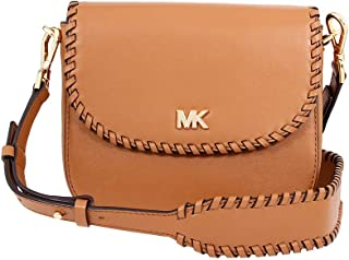 e997ddd73820 Michael Kors Ladies Whipstitched Acorn Leather Saddle Bag 32F8GF5C8O203