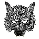 Wolf Mask, Animal Head Masks for Adult Kids, Scary Werewolf Mask for Festival Cosplay Halloween Costume (Gray)