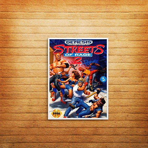 Streets of Rage Retro Game Poster Print Wall Art A6 A5 A4 A3 Sega Gaming - 1002 (210 x 297 mm)
