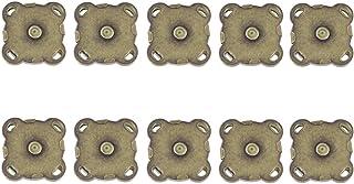 VICASKY 10 conjuntos de fecho magnético de botão de costura em botões magnéticos de 15 mm fechos de costura magnéticos, bo...