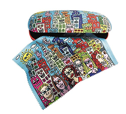Fridolin Set Brillenetui und Brillenputztuch James Rizzi - Summer in The City