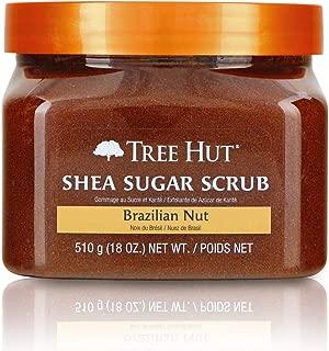 Tree Hut Shea Sugar Scrub Brazilian Nut, 18oz, Ultra Hydrating and Exfoliating Scrub for Nourishing Essential Body Care (Pack of 3)