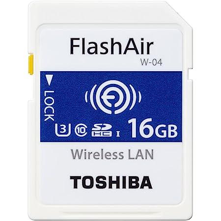 東芝 無線LAN搭載SDHCメモリカード 16GB Class10 UHS-1Flash Air SD-UWA016G