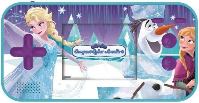 LEXIBOOK Disney Frozen Compact Cyber Arcade Consola portátil, 150 Juegos, LCD, con Pilas, Azul, Color (China)