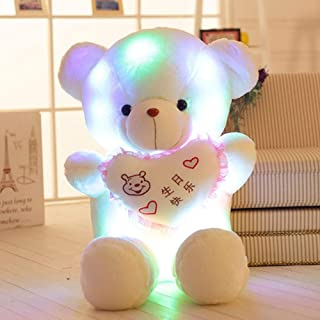 NIANMEI 40Cm Plush Toys Glowing Heart Bear Teddy Bear Pillow Glow in The Dark Gift Stuffed Children Soft Animals Freebie Birthday
