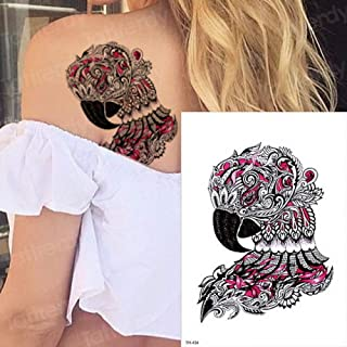 Handaxian Etiqueta engomada del Tatuaje 3pcs Tatuaje Duradero Tatuaje de Pavo Real Acuarela Mujer Tatuaje 3pcs-15