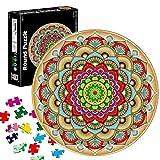 TaimeiMao Puzzle Redondo 1000 Piezas,Rompecabezas Redondo,Puzzle Creativo,Puzzle Arcoiris,Puzzle Adultos (Flor de la Suerte)