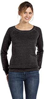Canvas Sponge Fleece Wide Neck Sweatshirt (7501)