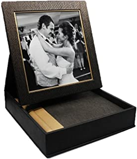 Showoff Albums 10 X 10 Album with Frame Box Two Tone Cover Brown/Gold, 15 Pages (30 Sides)