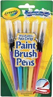 Crayola Paint Brush Pens 5 Washable Classic Colours, Painting, Artist, Art Supplies