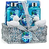 Home Spa Gift Basket in Heavenly Ocean Bliss Scent - 9 Piece Bath & Body Set...