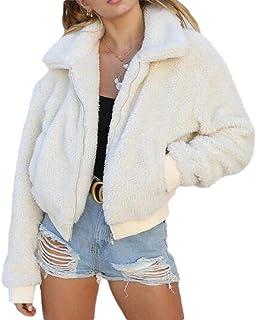 Women Faux Shearling Soft Lightweight Winter Warm Coat Fuzzy Jacket