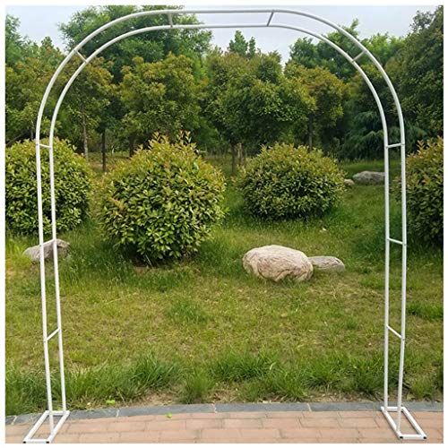 QHW Soporte de Planta trepadora de Hierro, Arco de Rosas de jardín, Soporte de Rejilla de Arco de terraza, Utilizado para césped de pérgola de jardín, 1.8m, 2m, 2.33m, 2.4m, 2.86m, 3m