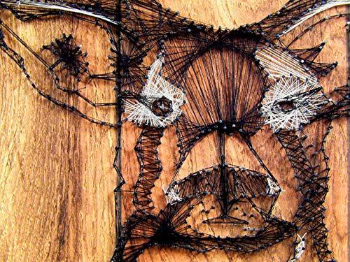 "Deer head string art 16"" x 20"" center 22"" by Art of string"