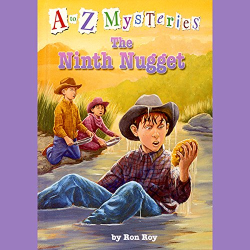 A to Z Mysteries: The Ninth Nugget audiobook cover art